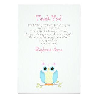 Sweet Owl Birthday Card