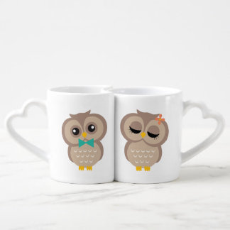 Sweet Owl Couple Couples' Coffee Mug Set