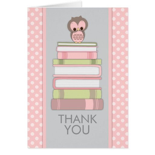 Sweet Owl on Books Thank You Card