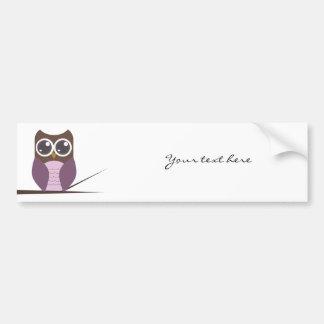Sweet Owl on Branch Car Bumper Sticker