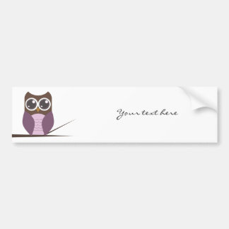 Sweet Owl on Branch Bumper Stickers