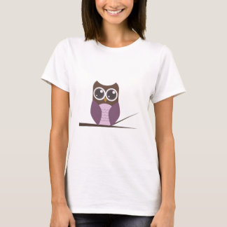 Sweet Owl on Branch T-Shirt