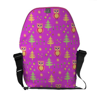 sweet owl pattern courier bag