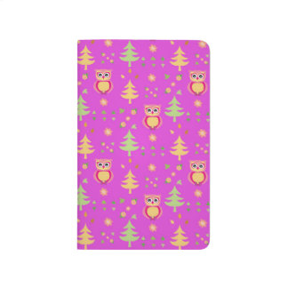 sweet owl pattern journal