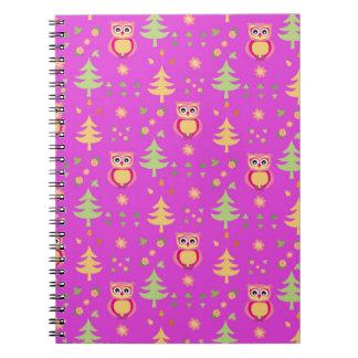 sweet owl pattern notebook