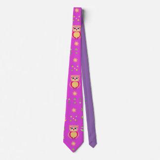 sweet owl pattern tie