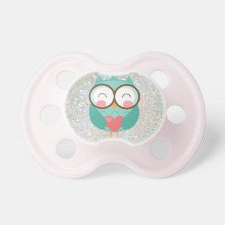 Sweet Owl - Sparkle Print Pacifier