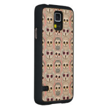 Sweet Owlets Baby Owls on Pale Pink Pattern Carved Maple Galaxy S5 Slim Case