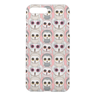 Sweet Owlets Baby Owls on Pale Pink Pattern iPhone 7 Plus Case