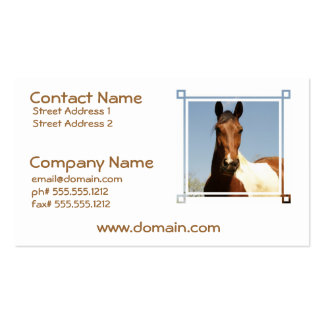 Sweet Paint Horse Business Cards