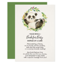 Sweet Panda Baby Shower Book for Baby Card