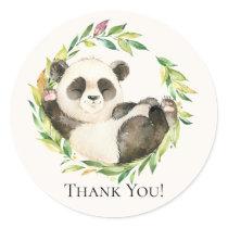 Sweet Panda Baby Shower Thank You Favor Sticker