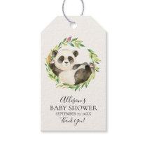 Sweet Panda Bear Baby Shower Favor Gift Tag