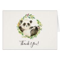 Sweet Panda Bear Baby Shower Thank You Note