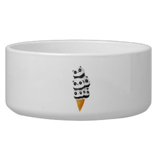 Sweet Panda Bear Ice Cream Cone Dog Water Bowls