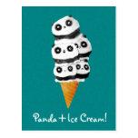 Sweet Panda Bear Ice Cream Cone Post Card
