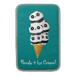 Sweet Panda Bear Ice Cream Cone Sleeve For MacBook Air