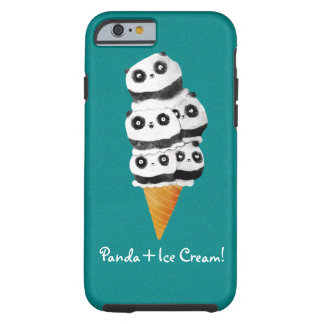 Sweet Panda Bear Ice Cream Cone Tough iPhone 6 Case