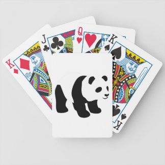 Sweet panda bicycle playing cards