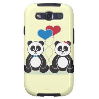 Sweet pandas in love Samsung Galaxy 3 case Samsung Galaxy S3 Case