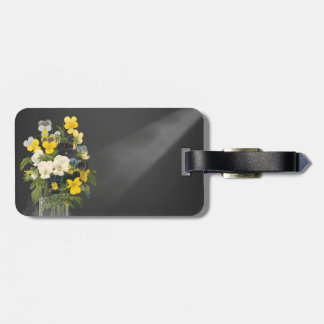 Sweet Pansy in Masons Jar Luggage Tag