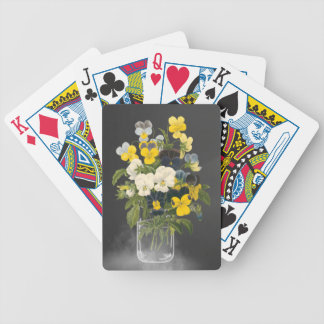 Sweet Pansy in Masons Jar Deck Of Cards