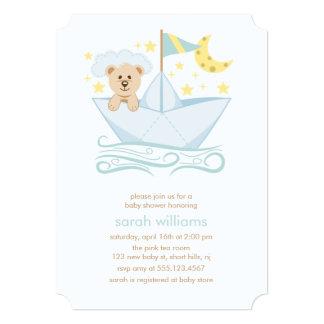 Sweet Paper Boat Bear Card