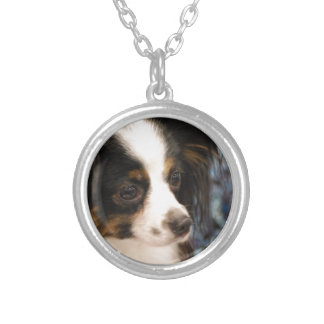 Sweet Papillon Puppy Personalized Necklace