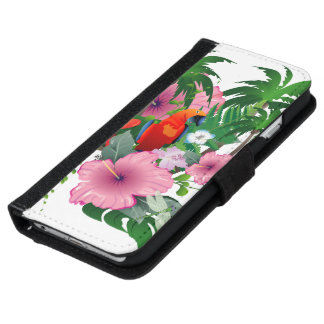 Sweet parrot iPhone 6/6s wallet case