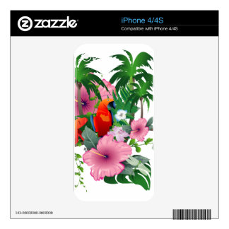 Sweet parrot decal for the iPhone 4S