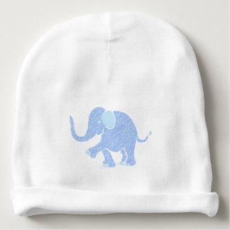 Sweet Pastel Blue Joyful Baby Elephant Baby Beanie