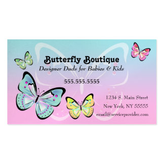 Sweet Pastel Butterfly Business Card
