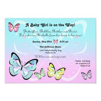 Sweet Pastel Butterfly Invitation