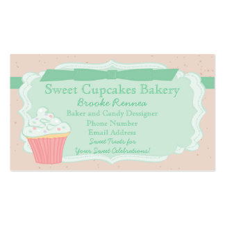 Sweet Pastel Cupcake Business Card Templates
