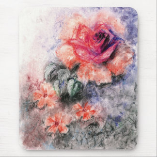 Sweet Pastel Flowers Mouse Pad