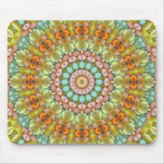 Sweet Pastel Jellybean Mandala Kaleidoscope Mouse Pad