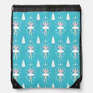Sweet Pastel Nutcracker Christmas Drawstring Backpack