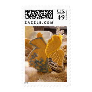 Sweet pastry angel with sugar decoration postage stamps