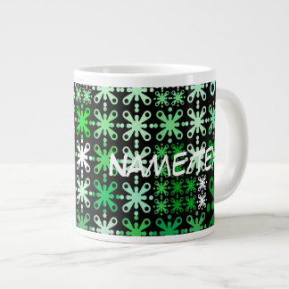 sweet pattern 05 green jumbo mug