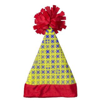 sweet pattern 05 yellow blue Q.jpg Santa Hat