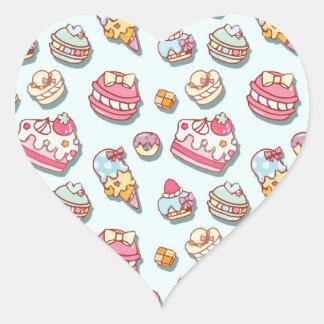Sweet pattern heart sticker