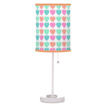 Sweet Pattern Hearts Desk Lamp