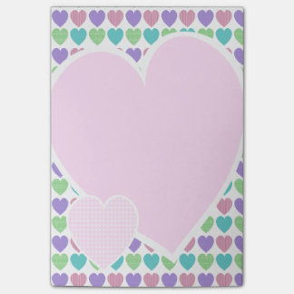 Sweet Pattern Hearts Post-it® Notes