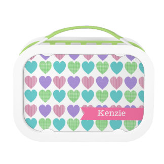 Sweet Pattern Hearts with Name Replacement Plate
