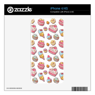 Sweet pattern iPhone 4S skin