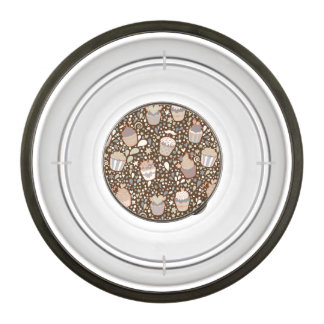 Sweet  pattern made of tasty cupcakes bowl