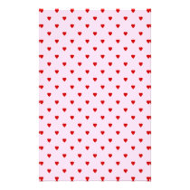 Sweet pattern of red hearts on pink. flyer