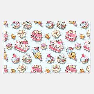 Sweet pattern rectangular sticker