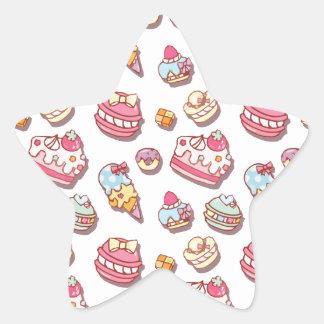 Sweet pattern star sticker