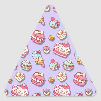 Sweet pattern triangle sticker
